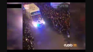 حرکت قابل تحسین تظاهرکنندگان هنگ کنگی
