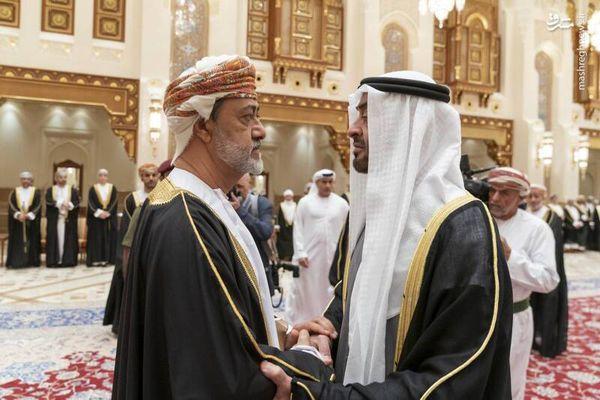 فیلم پرحاشیه از دیدار پادشاه عمان و بن زاید