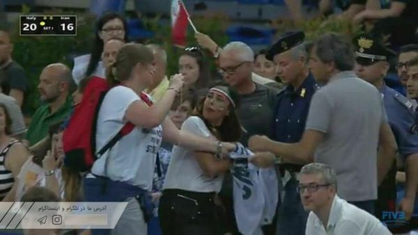دانلود کلیپ درگیری پلیس با دختر ایرانی والیبال ایران ایتالیا