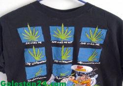 رونق فروش مانتو و تیشرت با طرح ماریجوانا در تهران