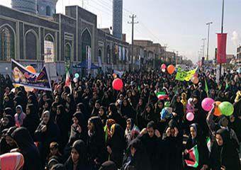 تصاویر/ راهپیمایی حماسی 22 بهمن در آق قلا