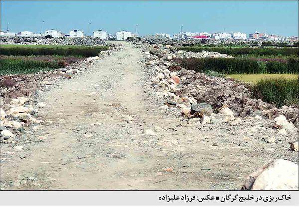 توقف عملیات اسکله سازی در خلیج گرگان