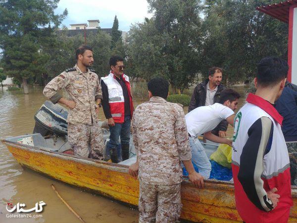 گزارش تصویری 4 فروردین / مردم سیل زده آق قلا