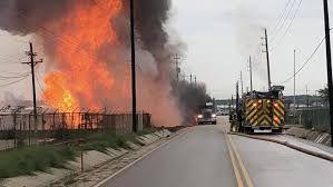 فیلم/ وقوع انفجار در تاسیسات گاز تگزاس