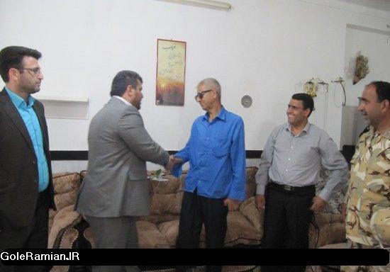دیدار مسئولین شهرستان رامیان با سه تن از جانبازان دفاع مقدس+تصاویر