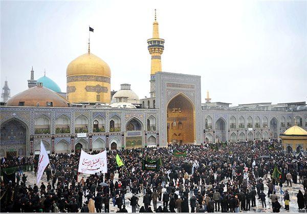 تجمع بزرگ هیئتهای مذهبی گلستان در حرم مطهر رضوی