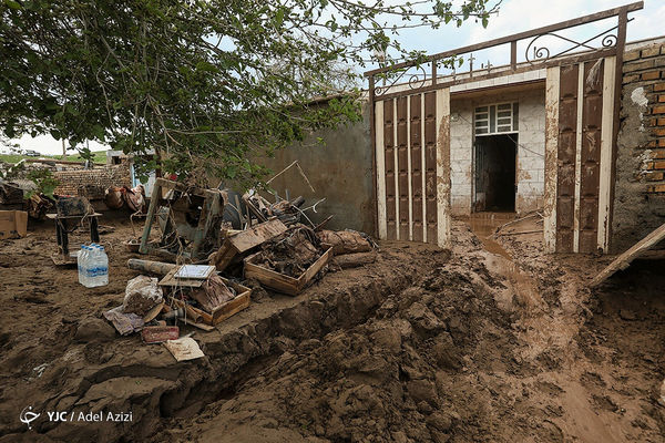 خسارت سیل به بیش یک هزار واحد مسکونی در مراوه تپه