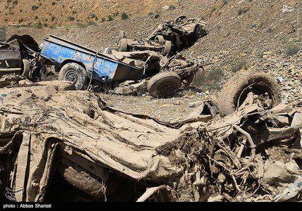 تصاویر جدید خسارات سیلاب جاده چالوس