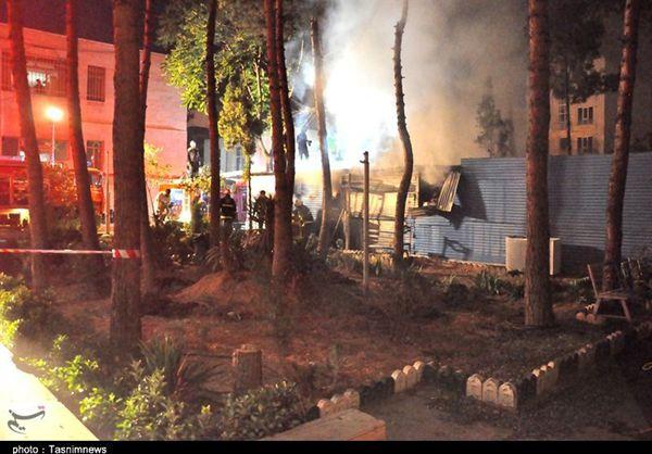 آتشسوزی در انبار توزیع سیگار در گنبدکاووس پس از ۵ ساعت مهار شد