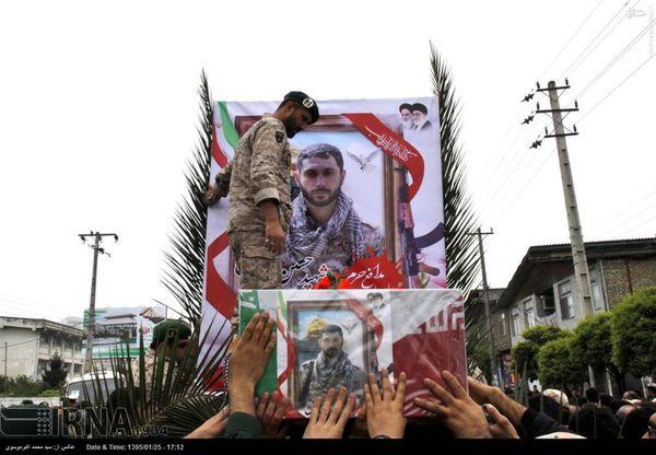 تشییع پیکر شهید مدافع حرم حسین بواس در چالوس
