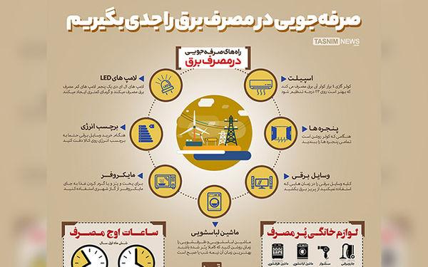 اینفوگرافیک/ صرفهجویی در مصرفبرق را جدی بگیریم