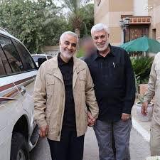 فیلم / خودروی حامل سردار حاج قاسم سلیمانی و ابومهدی المهندس
