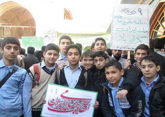 تصاویر /حضور حماسی دانش آموزان گلستانی در ۹دی