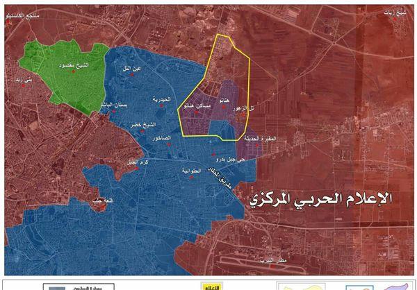 «جبل البدرو» نیز در شرق حلب آزاد شد