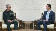 عکس/ دیدار رئیس ستاد کل نیروهای مسلح  با رئیس جمهور سوریه
