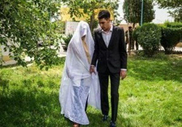 حرفهای عروس و دامادی که در حیاط زندان به عقد هم درآمدند