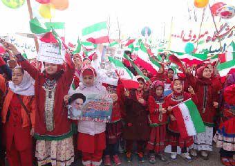 تصاویر/ راهپیمایی باشکوه 22 بهمن مردم رامیان