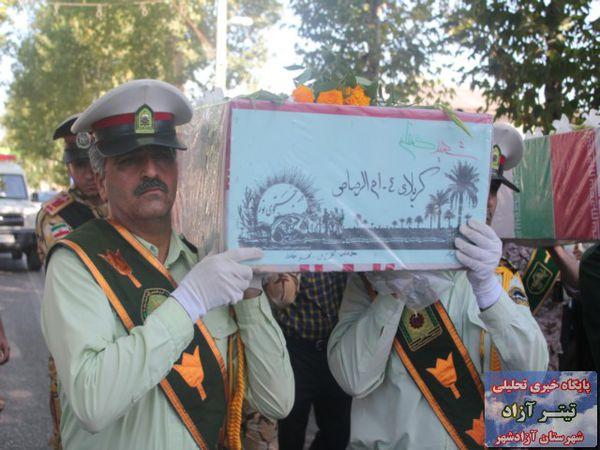 تصاویر/ تشییع و تدفین دو مروارید خاکی در نوده خاندوز