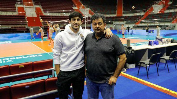 سردار آزمون در تمرینات تیم ملی والیبال + عکس