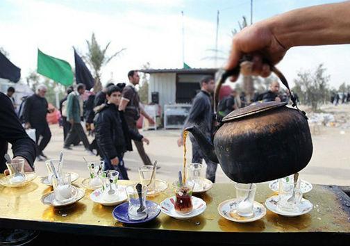 نذورات مردم گلستان و خدام حسینی در راه کربلای معلی
