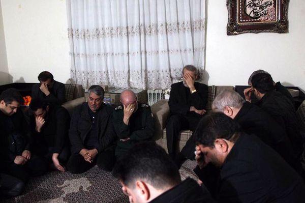 لاریجانی به منزل سرلشکر سلیمانی رفت