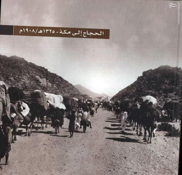 عکس/ کاروان حج در سال ۱۹۰۸