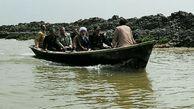 بازدید سردار غیب پرور رییس سازمان بسیج مستضعفین از کانال مرکزی ملت گمیشان و روند خروج آب به سمت دریا