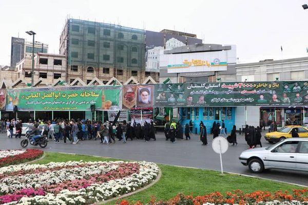 خدمترسانی عاشقانه گلستانیها به زائران امام رضا(ع)