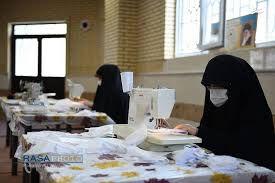 فیلم/ ساخت ماسک توسط بانوان جهادی