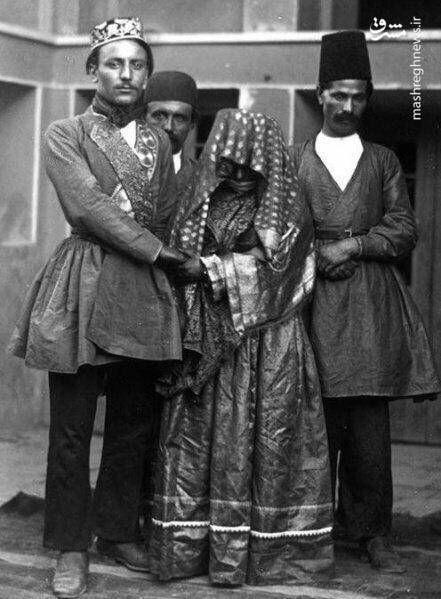 زوج قاجاری + عکس