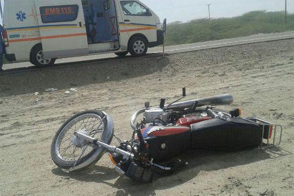 مرگ موتورسوار ۴۰ ساله در اثر تصادف با خودروی سواری