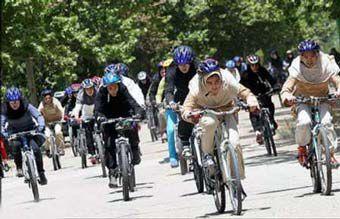 همایش دوچرخه سواری مردان و زنان در گرگان !