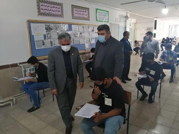 بازدید سرزده مدیرکل آموزش و پرورش گلستان از چند حوزه امتحان نهایی شهرستان رامیان