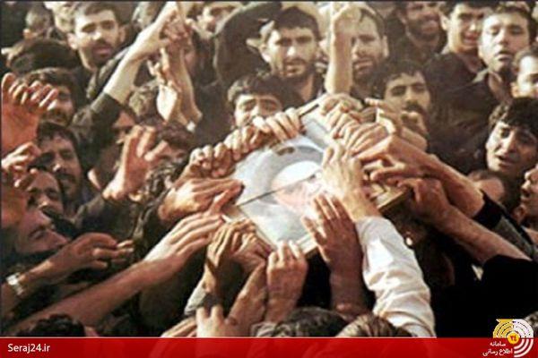 ماجرای شهیدی که سنگ لحد مزار امام(ره) را گذاشت+تصاویر کمتر دیده شده از مراسم