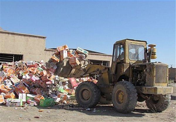 10 تن کالای غیر استاندار و غیر بهداشتی در گلستان امحا شد