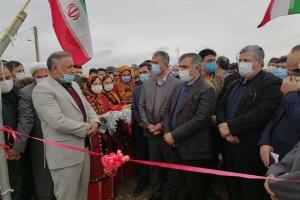 مراسم افتتاح چمن مصنوعی مینی فوتبال روستای مرزی کرند در استان گلستان